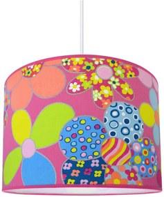 Lustră copii FLOWERS 1xE27/60W/230V roz