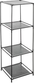 Biblioteca cu 4 rafturi metalice 5five Simple Smart, 34 x 34 x 104 cm, Argintiu