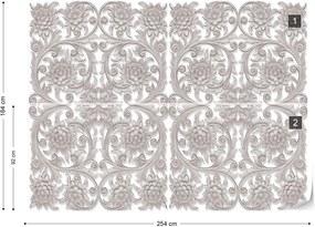 Fototapet GLIX - 3D Vintage Pattern + adeziv GRATUIT Tapet nețesute - 254x184 cm