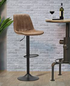 Scaun de bar ajustabil  BERLIN -A- CM 43X43X90-112 (inaltime sezut CM 60-84), Mauro Ferretti