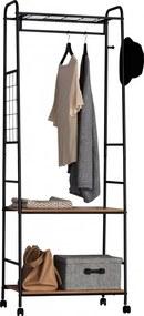 Suport mobil pentru haine din metal/PAL,63.50 x 40 x 171 cm
