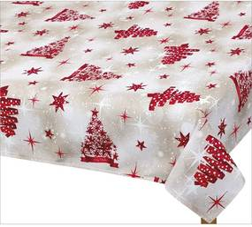 Față de masă de Crăciun Bellatex, pom roșu, 70 x 70 cm, 70 x 70 cm