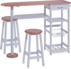 Set masa si scaune de bar din MDF, Zeller