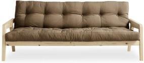 Canapea extensibilă Karup Design Grab Natural Clear/Mocca