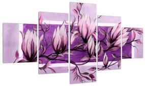 Tablou cu flori roz (K014689K12570)