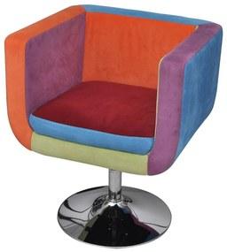 240813 vidaXL Fotoliu cub, model Patchwork, material textil