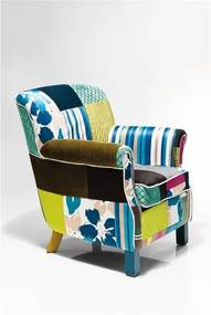 Fotoliu Kare Design Patchwork Stripes