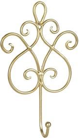 Cuier de perete din fier auriu 15 cm x 5 cm x 22 h