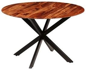 246012 vidaXL Masă de bucătărie, lemn masiv de sheesham, 120 x 77 cm