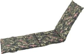 Saltea scaun grădină Hartman Pink Silvan, 195 x 63 cm