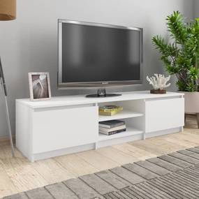 800648 vidaXL Comodă TV, alb, 140 x 40 x 35,5 cm, PAL