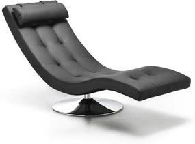 Șezlong Design Twist Nanjing, negru