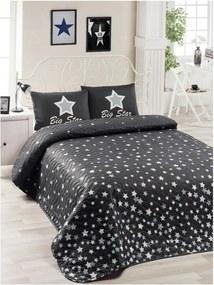 Set cuvertură de pat și față de pernă Mismo Cula, 160 x 220 cm, negru