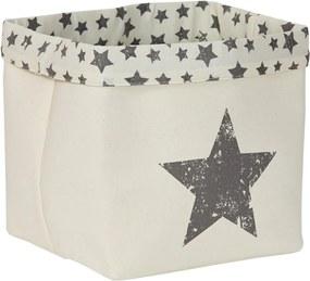 Cos alb  - Black Star 30x30x30 cm