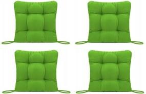 Set Perne decorative pentru scaun de bucatarie sau terasa, dimensiuni 40x40cm, culoare Verde, 4 bucati/set