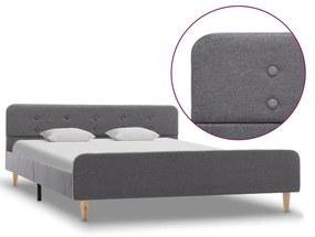 284903 vidaXL Cadru de pat, gri deschis, 140 x 200 cm, material textil