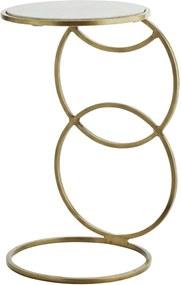 Masuta auxiliara Circle - Auriu - 31x54 cm