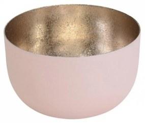 Suport pentru lumanare roz pal
