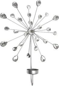 Set de 4 suporturi pentru lumanari Sabana, plastic, 24 x 31 x 6 cm
