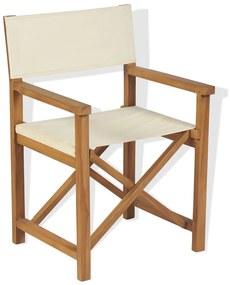43801 vidaXL Scaun de regizor pliabil, lemn masiv de tec