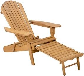Scaun de gradina din lemn cu suport pentru picioare, mai multe culori