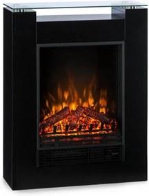 Klarstein STUDIO 5, șemineu electric, ventilator de căldură, 900 / 1800W, negru