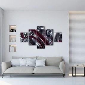 Tablou cu abstracție gri (125x70 cm), în 40 de alte dimensiuni noi