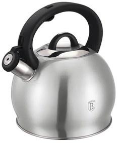 Ceainic din otel inoxidabil cu fluier 3 Litri Silver Line Berlinger Haus - BH 6397