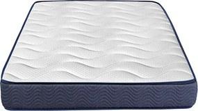 Saltea Ortopedica Bedora Cocos Polar Jeans 80x200 cm, memory foam, nuca de cocos, medie/tare, 22 cm, anatomica, husa detasabila, lavabila, antialergica