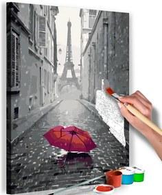 Bimago Pictura pe numere - Paris (Red Umbrella)