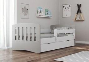 copii pat Classic - gri  Greyhead 180x80 cm pat + spațiu de depozitare