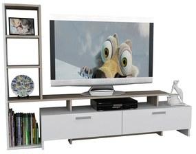 Comode TV SIMAL, melamina, 168x120x30 cm, Alb