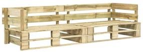 276311 vidaXL Canapea de grădină cu 2 locuri din paleți, lemn