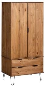 321132 vidaXL Șifonier New York Range, lemn deschis, lemn masiv de pin