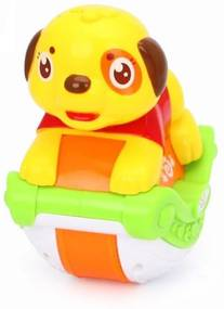 Jucarii bebe animalute pentru impins cu lumini si sunete 3105ABC Hola Toys Catel