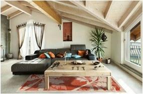 Covor foarte rezistent Floorita Palms Orange, 135 x 190 cm, portocaliu