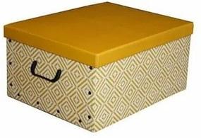 Compactor Cutie de depozitare pliabilă Nordic, 50 x 40 x 25 cm, galbenă