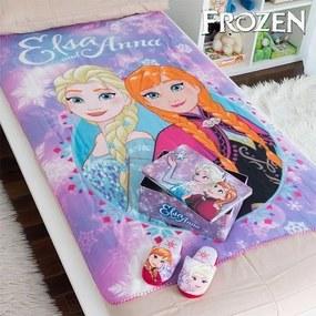 Cutie din Metal cu Pătură și Papuci Frozen