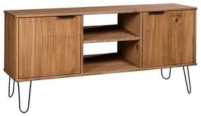 321144 vidaXL Comodă TV New York Range, lemn deschis, lemn masiv de pin