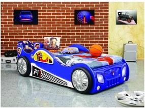 Plastiko - Patut in forma de masina Monza Albastru