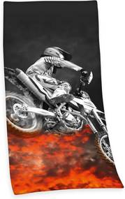 Prosop plaja pentru copii ''Motocross'' - Negru