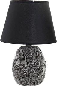 Veioza Lotus din ceramica neagra 33 cm