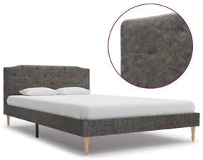 280553 vidaXL Cadru de pat, gri închis, 120 x 200 cm, material textil