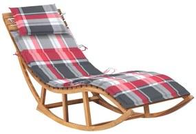 3063346 vidaXL Șezlong balansoar cu pernă, lemn masiv de tec