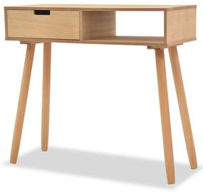 244739 vidaXL Masă consolă, lemn masiv de pin 80x30x72 cm, maro