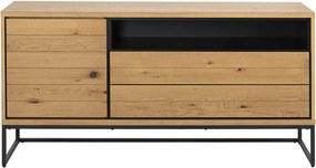 Bufet inferior maro/negru din lemn si metal 150 cm Dalarna Actona Company