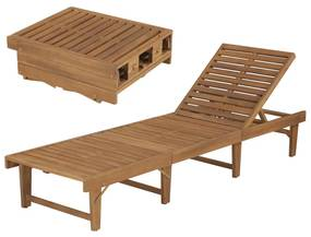 44253 vidaXL Șezlong de plajă pliabil, lemn masiv de acacia