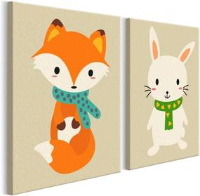 Pictura pe numere - Fox & Bunny