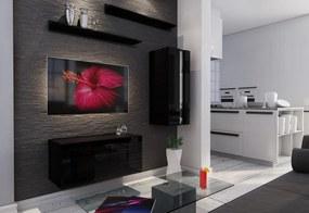 Expedo Mobilă sufragerie ELPASO 11 + LED, negru/negru luciu