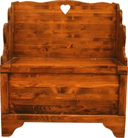 Banca cu lada Coeur din lemn maro 80x42x90 cm